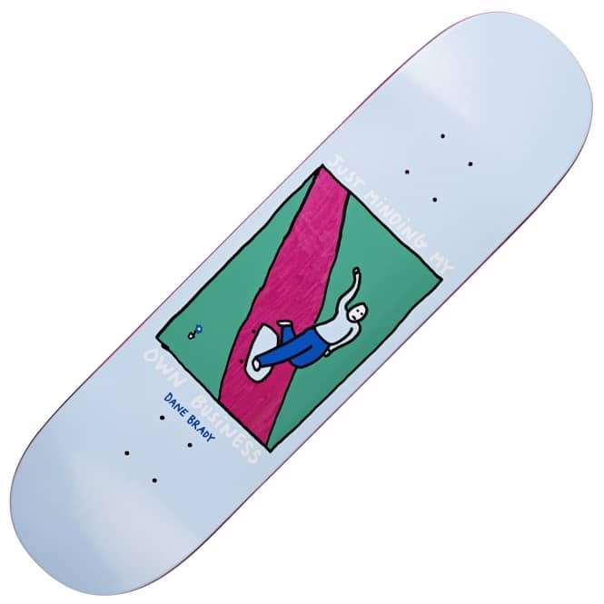 Polar Skateboards Brady Just Minding My Own Business Skateboard Deck 8.375