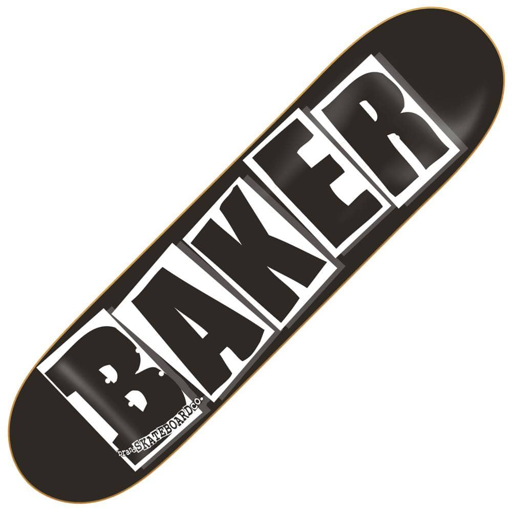 Baker Skateboards Brand Logo Black/White Skateboard Deck 8 ...