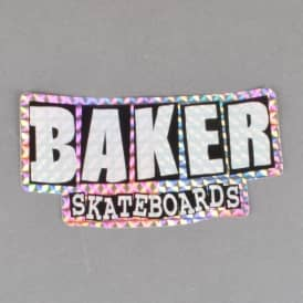 Brand Logo Holographic Skateboard Sticker - Reflective