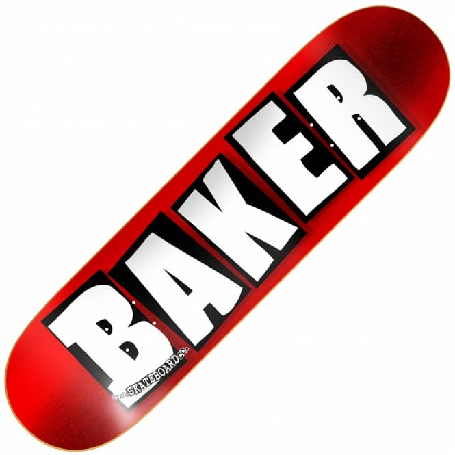 Baker Skateboards Brand Logo Red Foil Skateboard Deck 8.0