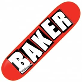 Brand Logo Red/White Mini Skateboard Deck 7.3