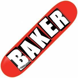 Brand Logo Red/White Skateboard Deck 8.125