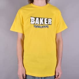 Brand Logo Skate T-Shirt - Yellow