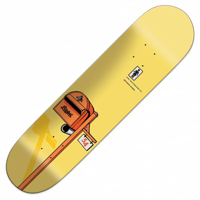 Girl Skateboards Brandon Biebel Letterbox OG Skateboard Deck 8""
