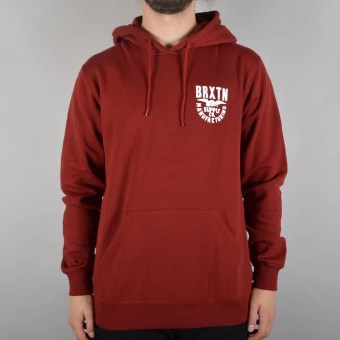 Brixton Alliance Pullover Hooded Top - Burgundy