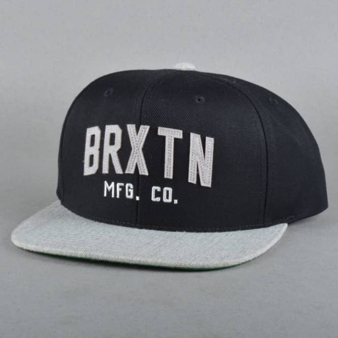 21b60fdfb0f Brixton Arden 2 Snapback Cap - Black Light Heather Grey - SKATE ...