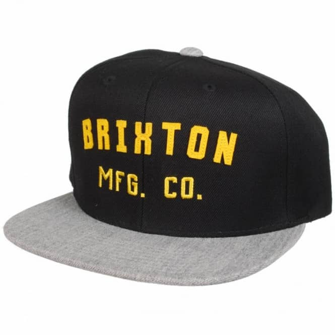 Brixton Arden Snapback Cap - Black Grey - SKATE CLOTHING from Native ... 86325a7af47