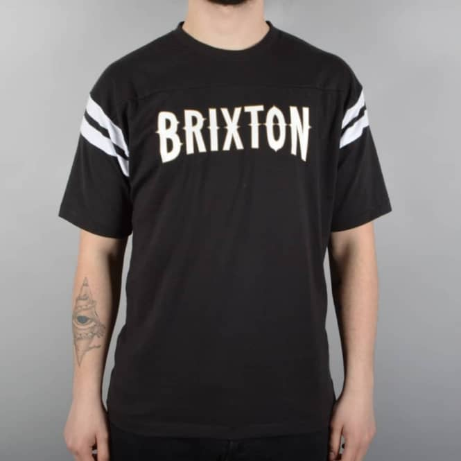 Brixton Benson Custom Knit T-Shirt - Black/White