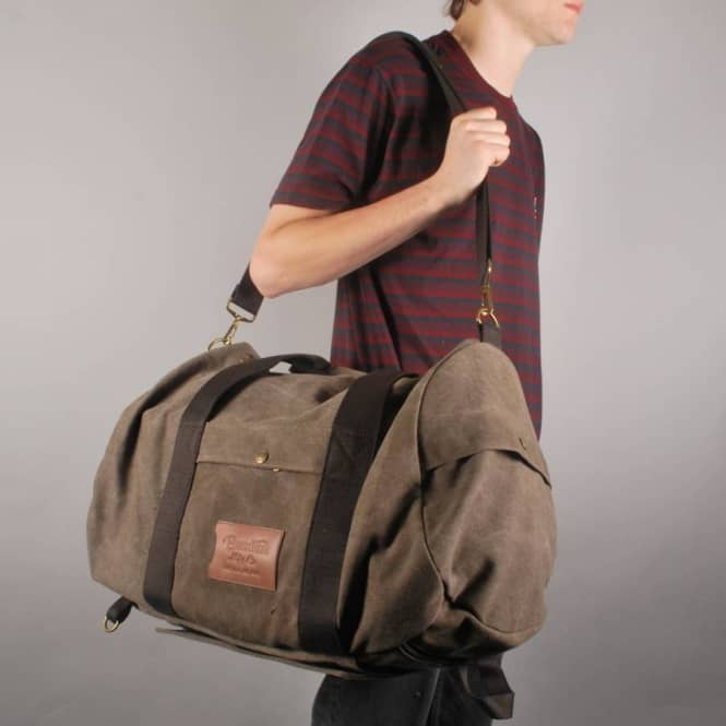 9e1cc1d403 Brixton Bixby Duffle Bag - Taupe - Skate Backpacks & Bags from ...