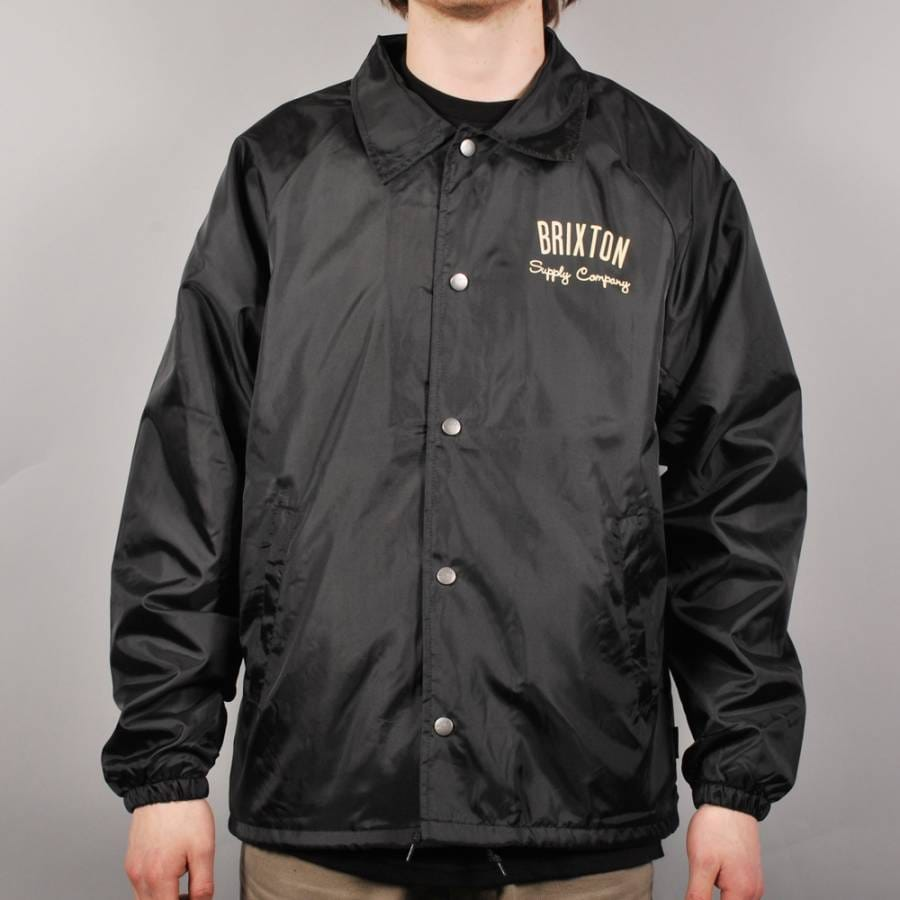 Brixton brixton clyde coach jacket black brixton from for Coach jacket