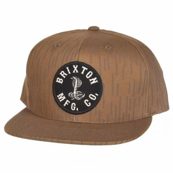 Brixton Cobra Snapback Cap - Rain Camo - Caps from Native Skate Store UK 9c6a859708a