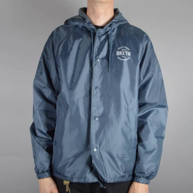 Brixton Cane Windbreaker Jacket - Slate Blue