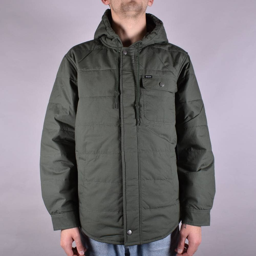 Brixton Cass Hooded Jacket - Pine Green - SKATE CLOTHING from Native ... 14429371aa5