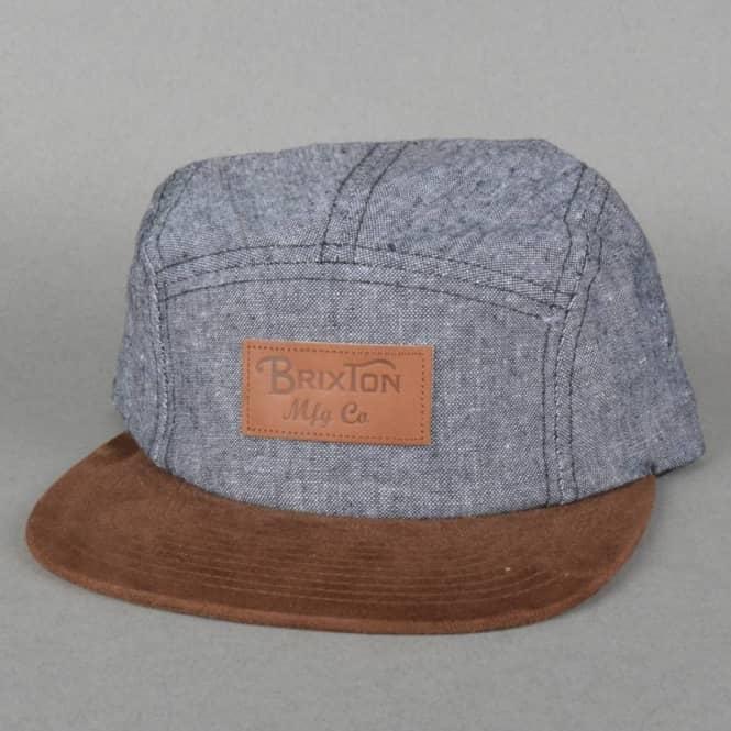 e4beddab94b Brixton Cavern 5 Panel Cap - Black Brown - Caps from Native Skate ...