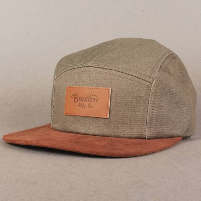 18bf40c6c3db8 Brixton Cavern 5 Panel Cap - Grey Chambray Brown - Caps from Native ...