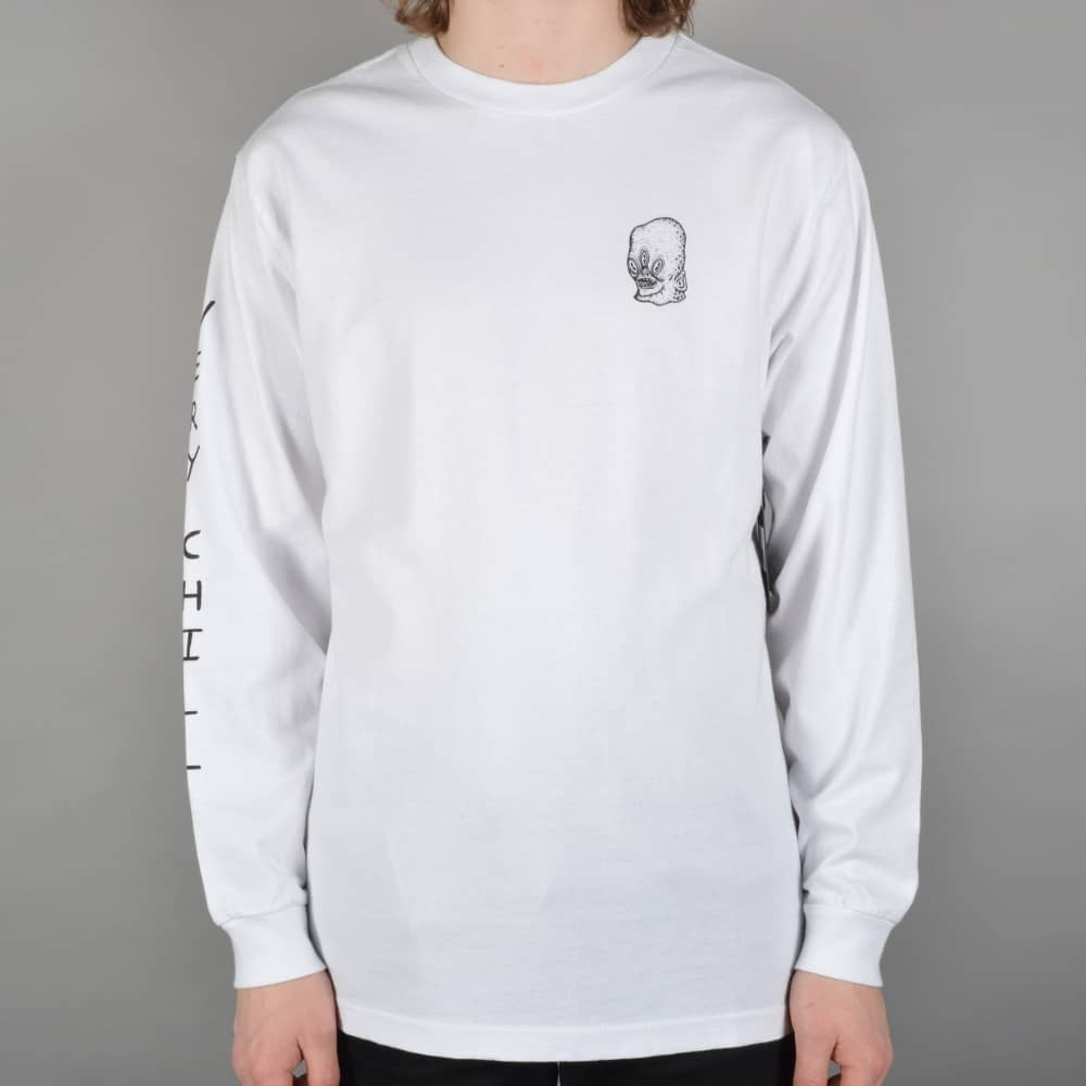 7391de3f225 Brixton Chill Longsleeve T-Shirt - White - SKATE CLOTHING from ...