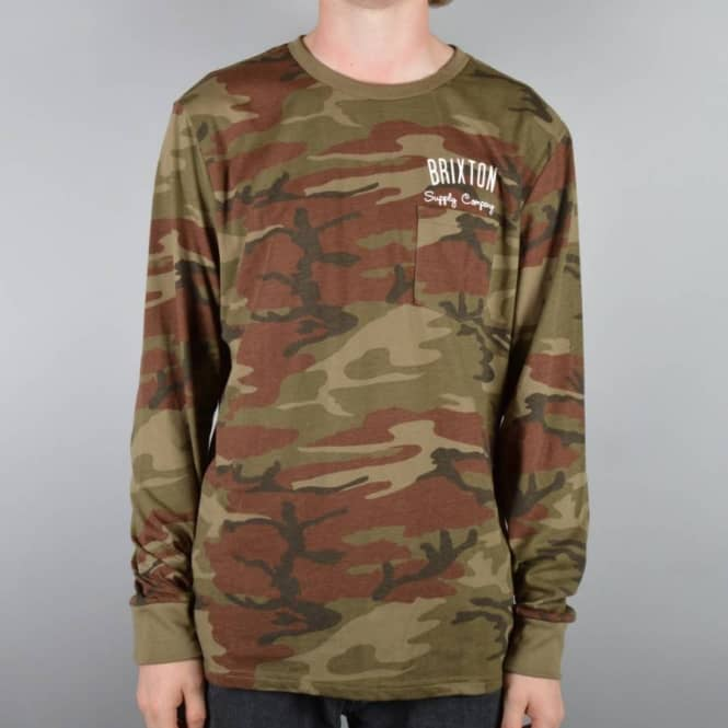 Brixton Driven Long Sleeve Pocket T-Shirt - Camo