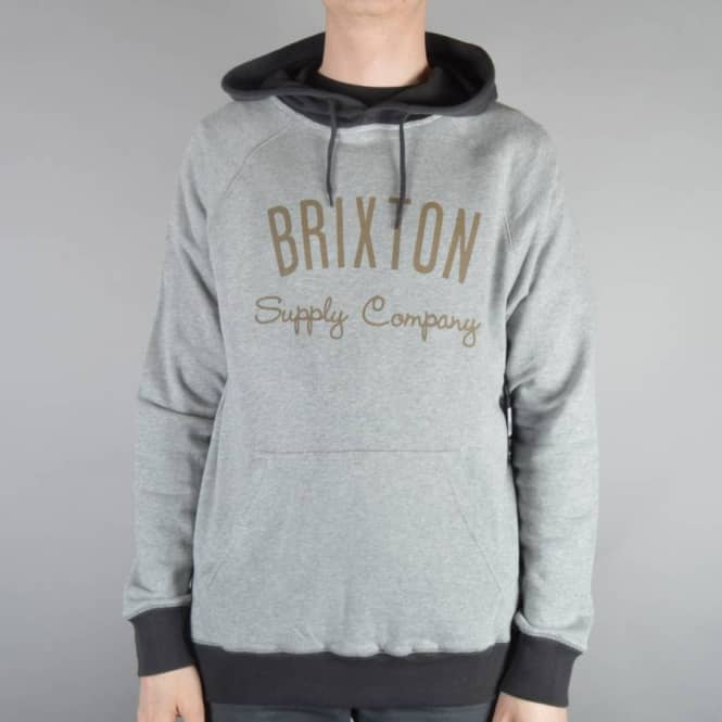 Brixton Driven Pullover Hoodie - Heather Grey