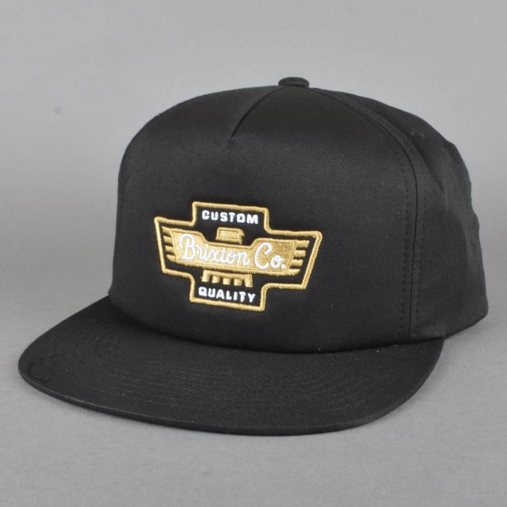 Brixton Federal Snapback Cap - Black - SKATE CLOTHING from Native ... f5375eabe3dc