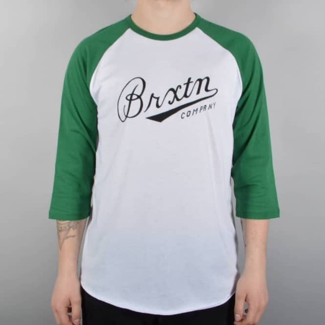 Brixton Fenway 3/4 Sleeve Raglan - White/Green