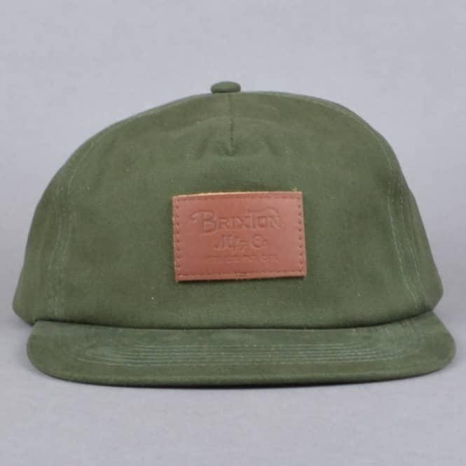 64f986eb83c34 Brixton Grade 5 Panel Cap - Forest Green - SKATE CLOTHING from ...