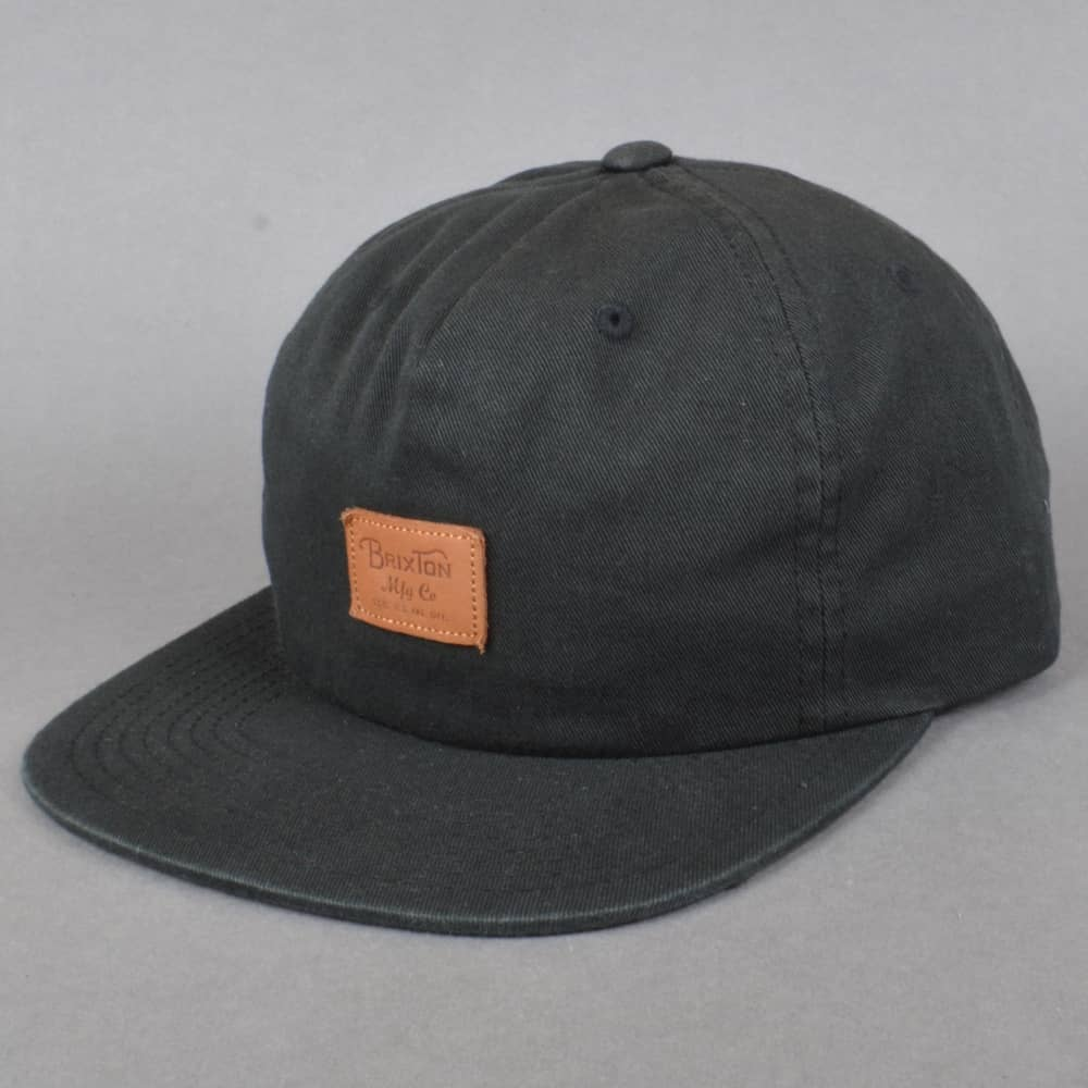 a004df363f6 Brixton Grade II UC Snapback Cap - Black - SKATE CLOTHING from ...