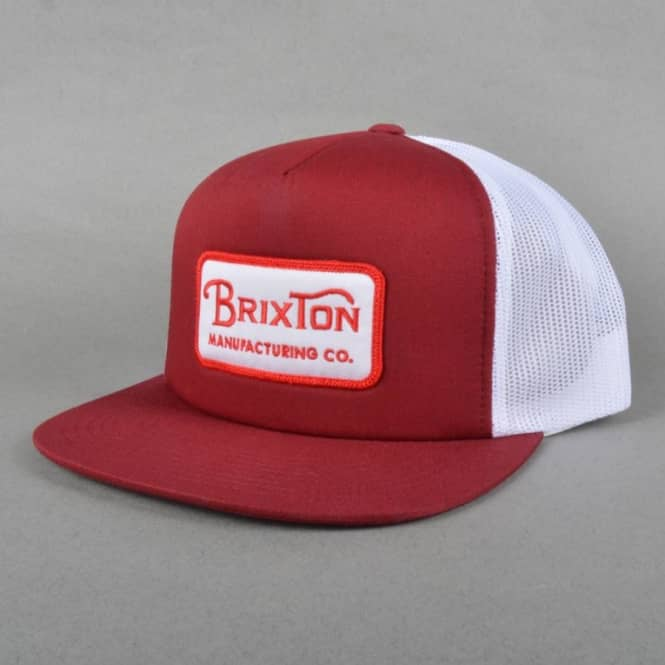 67c383fa Brixton Grade Mesh Backed Trucker Cap - Burgundy - Caps from Native ...