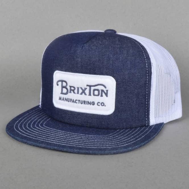 a757ff693b05f Brixton Grade Mesh Backed Trucker Cap - Denim - Caps from Native ...