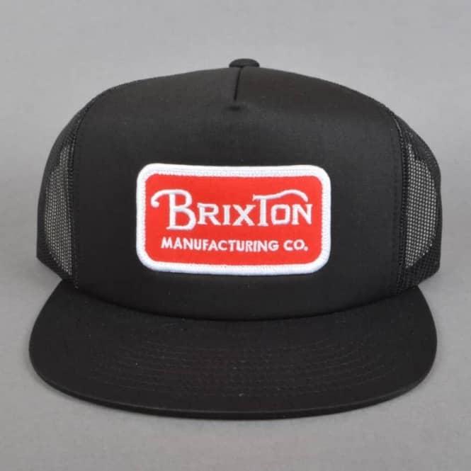 8b9f37286d3 Brixton Grade Mesh Snapback Cap - Black/Red - SKATE CLOTHING from ...