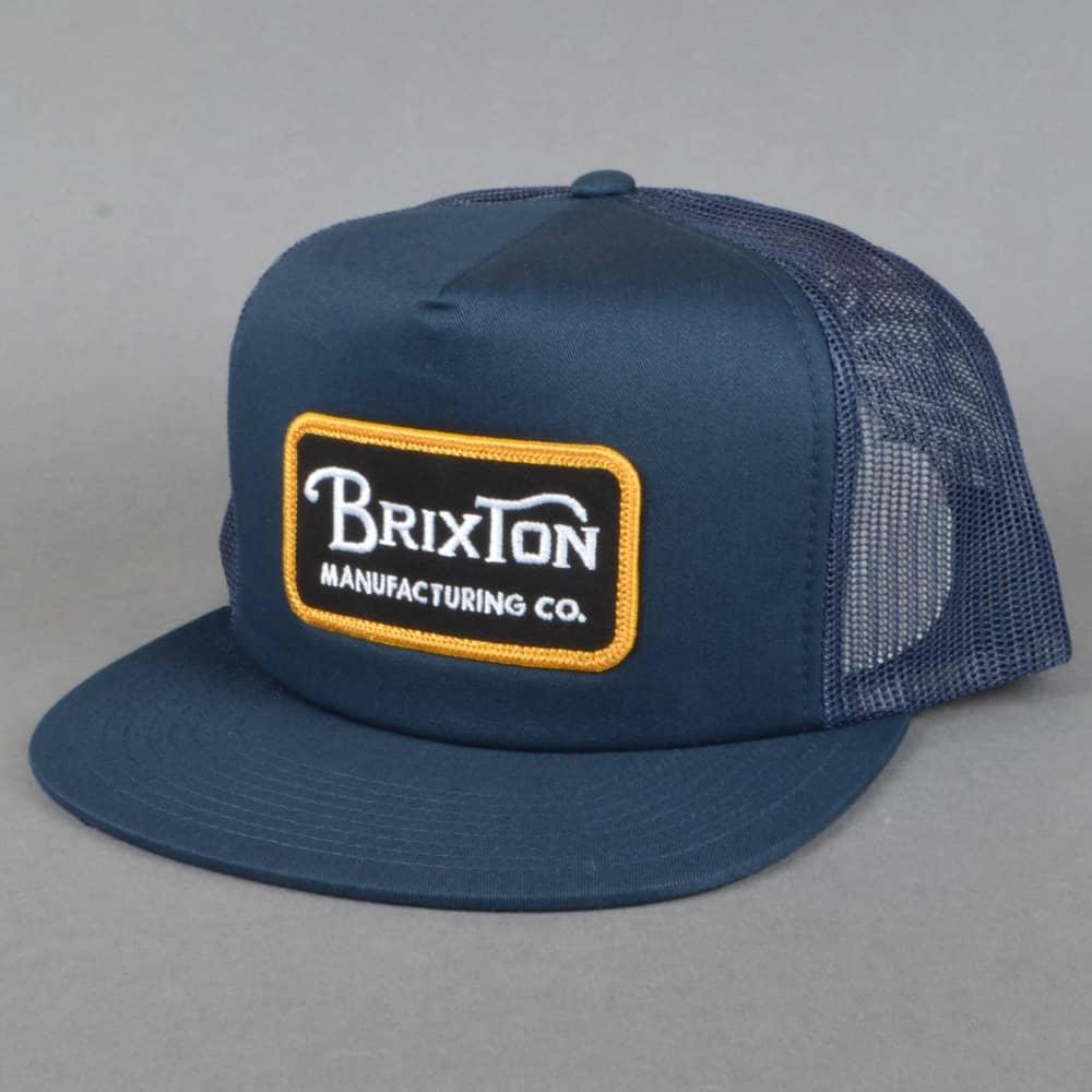 d2e03e96ff Brixton Grade Mesh Snapback Cap - Navy/Gold