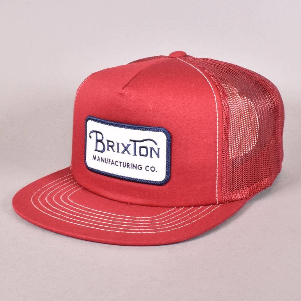 Brixton Grade Mesh Snapback Cap - White Navy Burgundy - SKATE ... 3d59b5786a53