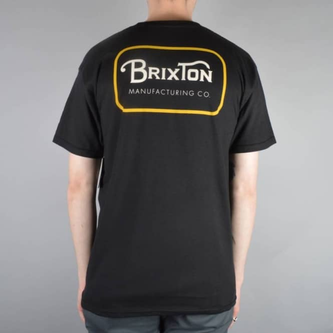 Brixton Grade T-Shirt - Black/Orange