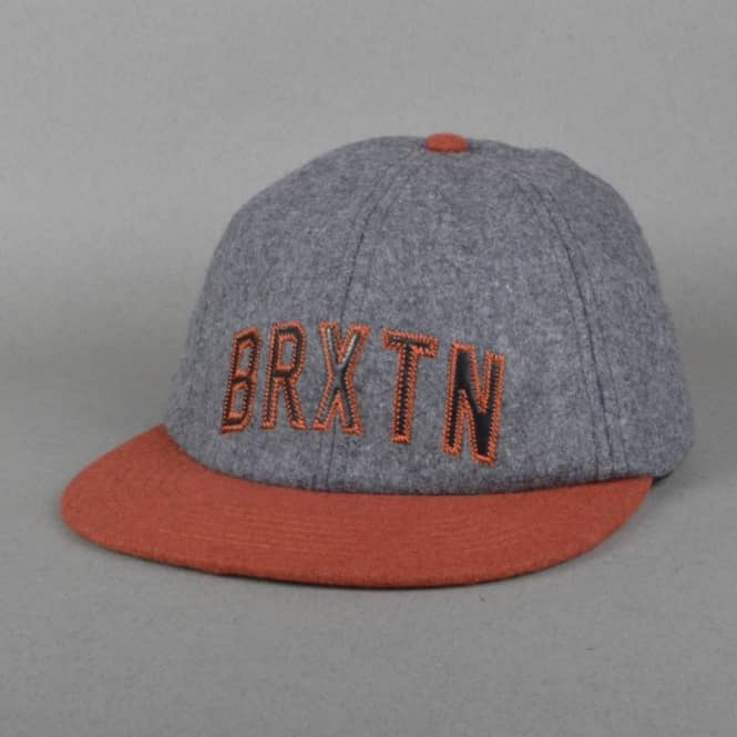 Brixton Hamilton Strapback Cap - Charcoal/Orange
