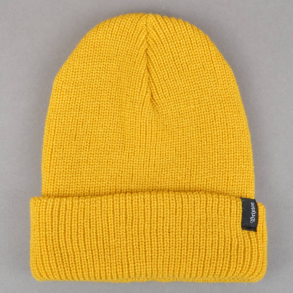 993041d0b08 Brixton Heist Beanie - Mustard - SKATE CLOTHING from Native Skate ...