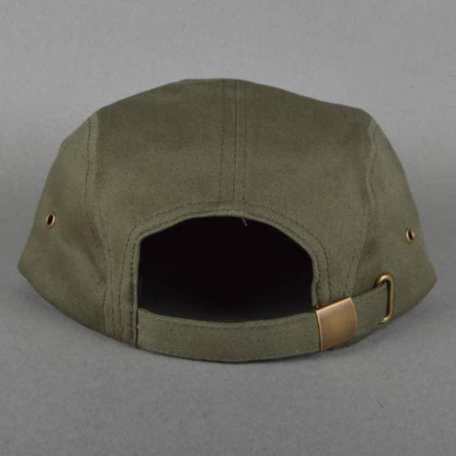 eb9a9a9ceb4 Brixton Hendrick 5 Panel Cap - Dark Olive - SKATE CLOTHING from ...