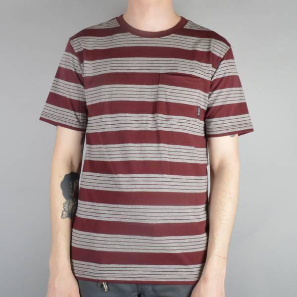 Brixton hilt custom t shirt burgundy heather grey for Uk custom t shirts