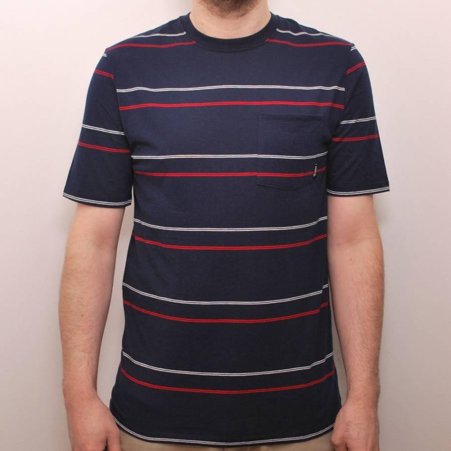 brixton brixton hilt custom t shirt navy stripe brixton