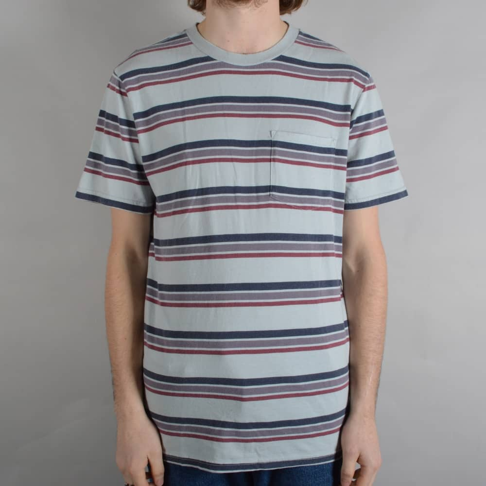 4ca85386ad Hilt Washed Striped Pocket T-Shirt - Stone