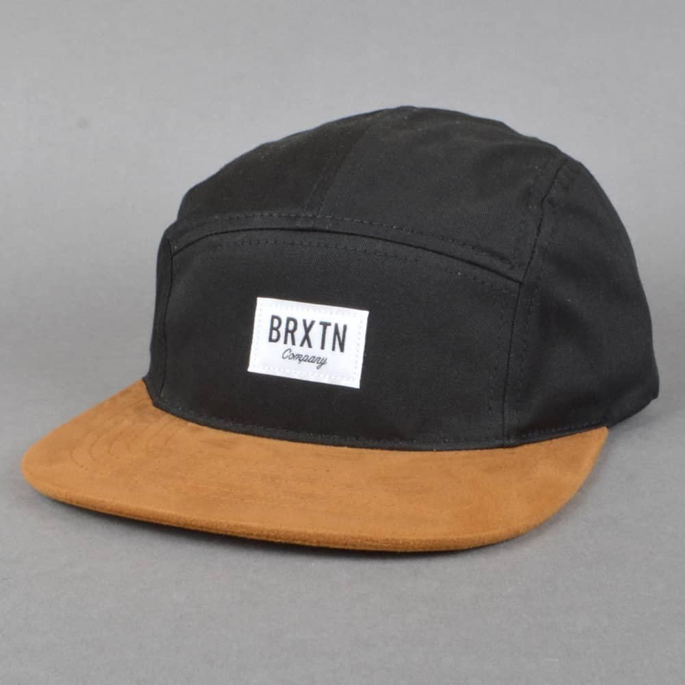 f0672e2b Brixton Hoover 5 Panel Cap - Black/Copper - SKATE CLOTHING from ...