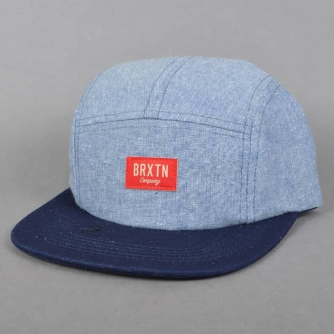 Brixton Hoover 5 Panel Cap - Light Blue/Navy