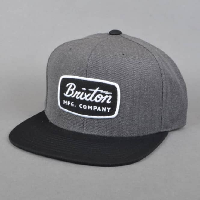 815e483da43 Brixton Jolt Snapback Cap - Charcoal Heather Black - SKATE CLOTHING ...