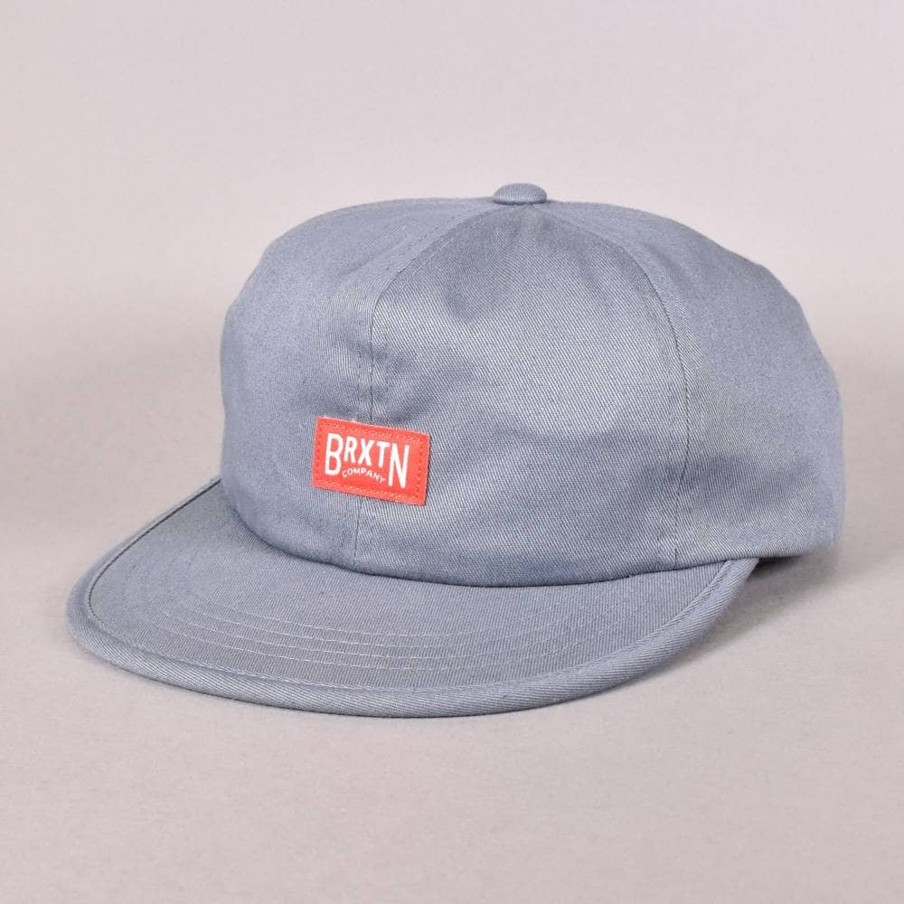 Brixton Langley Strapback Cap - Grey Blue - SKATE CLOTHING from ... 3cad057b4ee7