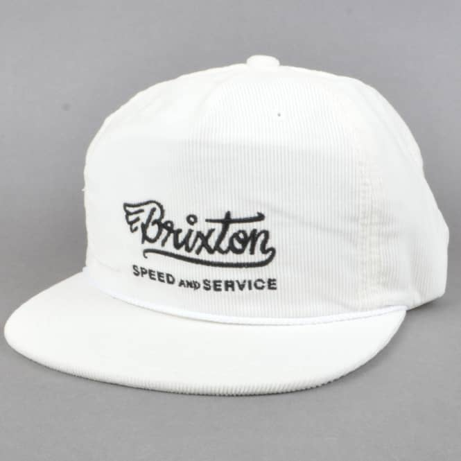 Brixton Match HP Snapback Cap - Off White