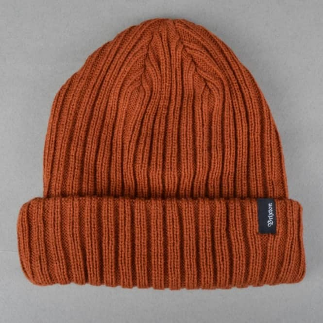 0feb90118bd Brixton Mitch Fold Up Beanie - Rust - Beanies from Native Skate Store UK
