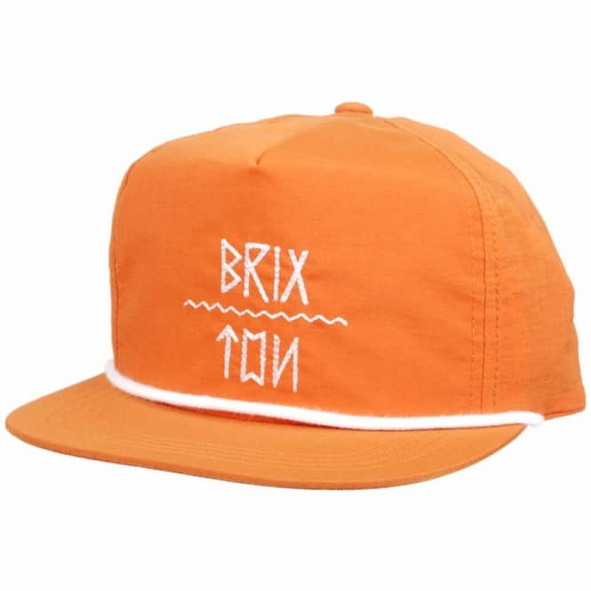 Brixton Brixton Morrow Unstructured Snapback Cap - Orange