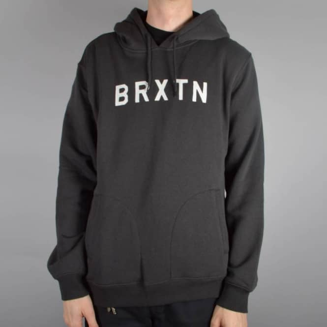 Brixton Murray Pullover Hoodie - Washed Black