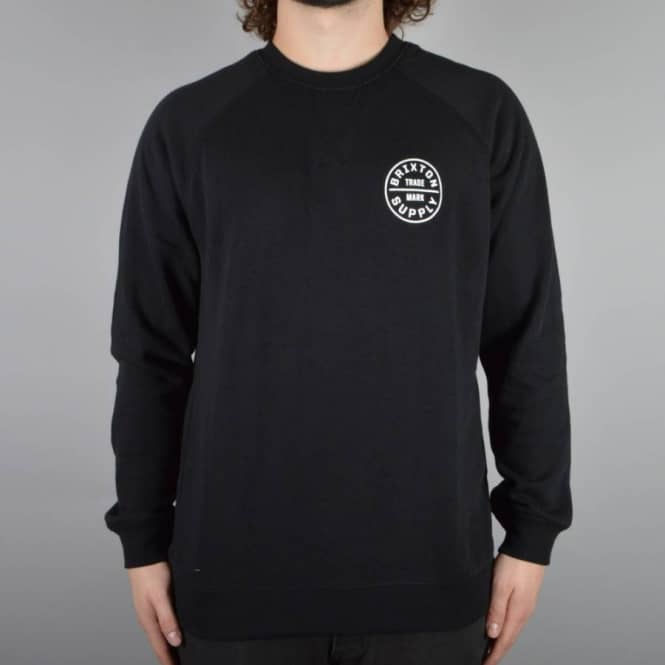 Brixton Oath Crewneck Sweater - Black