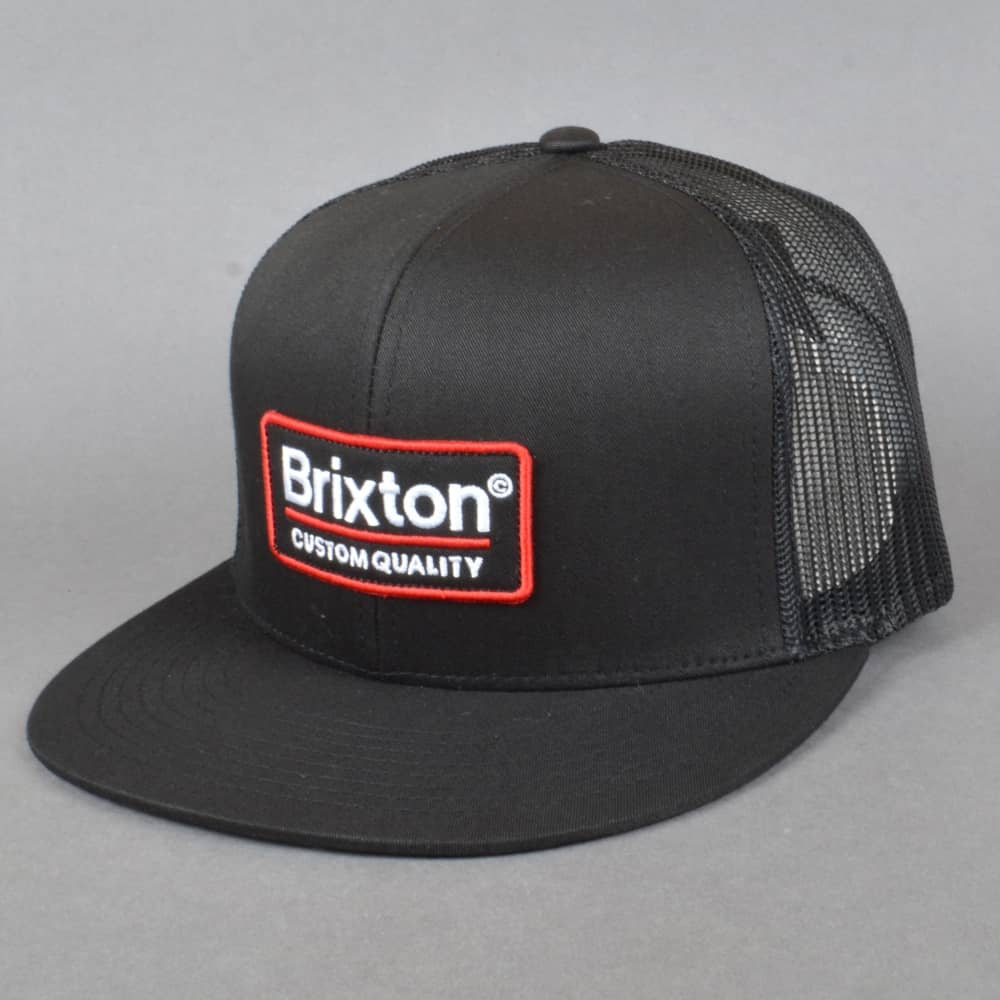 47b409c61fb6d Brixton Palmer Mesh Snapback Cap - Black - SKATE CLOTHING from ...