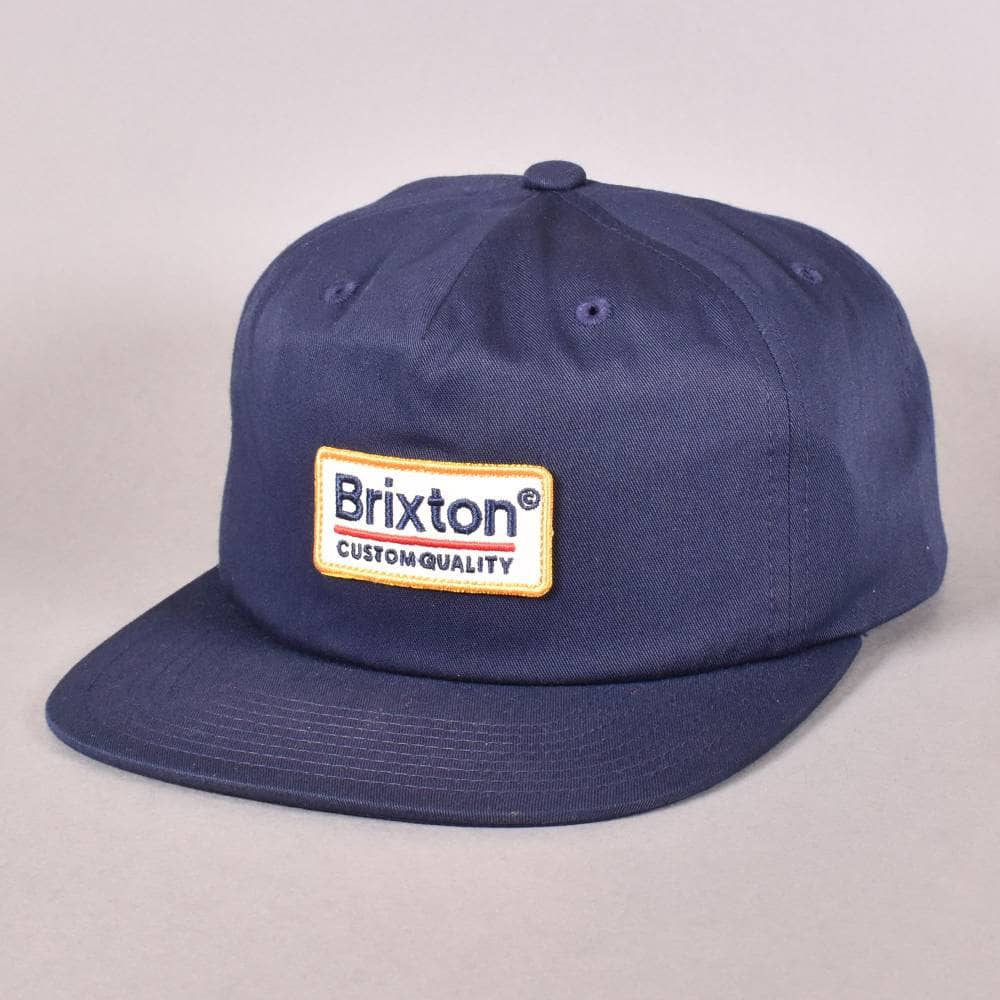 8934caad3641a Brixton Palmer MP Snapback Cap - Navy - SKATE CLOTHING from Native ...
