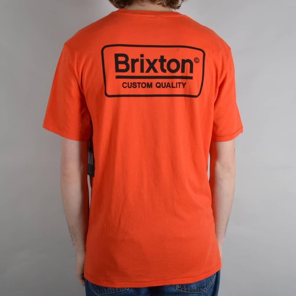 526307a18b Brixton Palmer Premium T-Shirt - Orange - SKATE CLOTHING from Native ...